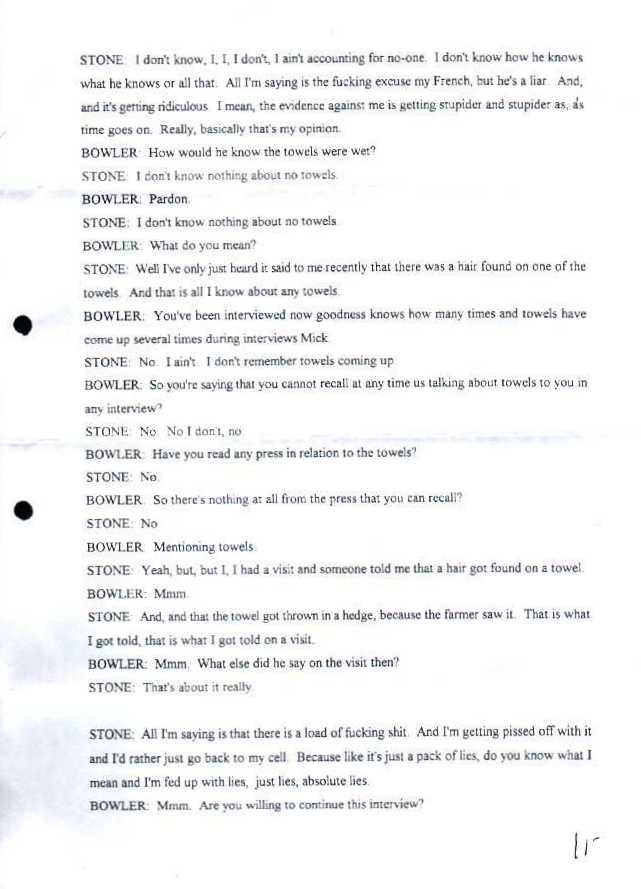 MICHAEL STONE QUESTIONED BY THE POLICE - 3